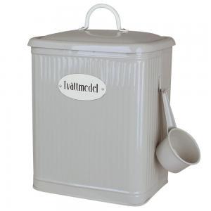 Tvättmedelsburk med skopa, Beige,  Hugo - Strömshaga
