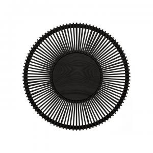 Vägglampa Clava Up - Wood Black Oak Large Ø 49 x 16,6 cm - Umage
