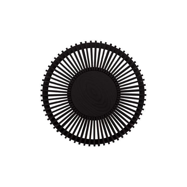 Vägglampa Clava Up - Wood Black Oak Medium Ø 35 x 16,4 cm - Umage