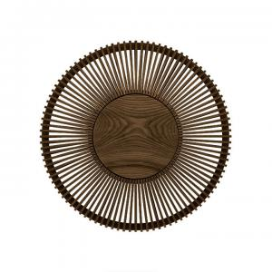 Vägglampa Clava Up - Wood Dark Oak Large Ø 49 x 16,6 cm - Umage