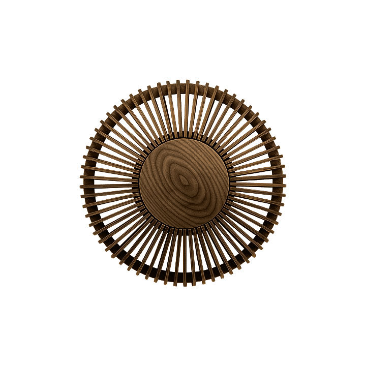 Vägglampa Clava Up - Wood Dark Oak Medium Ø 35 x 16,4 cm - Umage