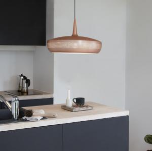 UMAGE Lampskärm Clava Dine 43x28cm - Borstad Kopparfärg