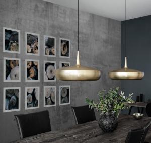 UMAGE Lampskärm Clava Dine 43x28cm - Borstad mässingsfärg