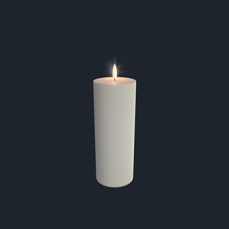 UYUNI Blockljus LED  7,8x23,1cm, IVORY