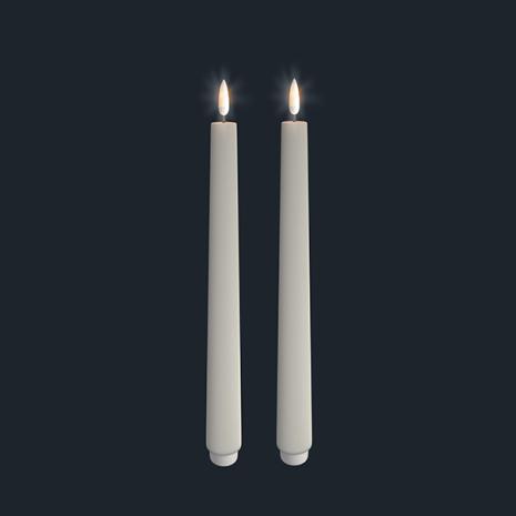 UYUNI Kronljus LED 2-pack, IVORY 28cm