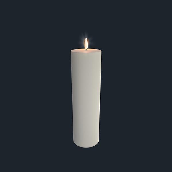UYUNI Pelarljus LED - IVORY - 7,3 x 25 CM