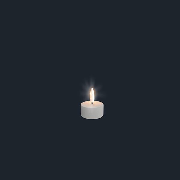 UYUNI Värmeljus LED (CR2450) - Vit - (fungerar med fjärrkontroll)