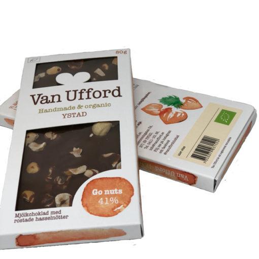 Go nuts; Mjölkchoklad med rostade hasselnötter - Van Ufford