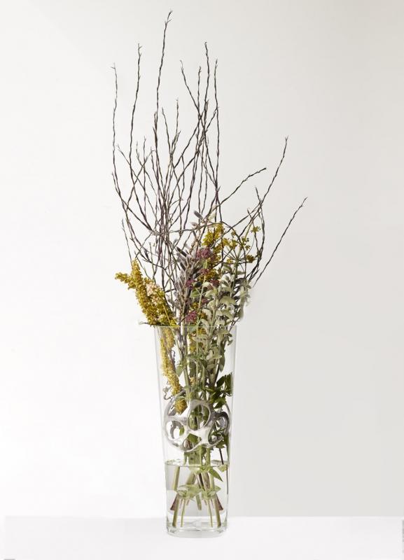 Vas Flores Med Silverkula - Zelected by Houze