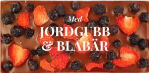 Jordgubb & Blåbär, Mjölkfri choklad 40% (Vegan) - Pralinhuset
