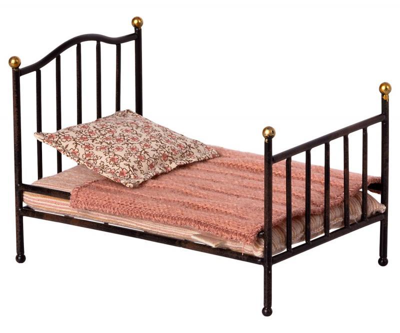 Vintage bed Mouse, mörkgrå - Maileg    KOMMER I SEP/OKT