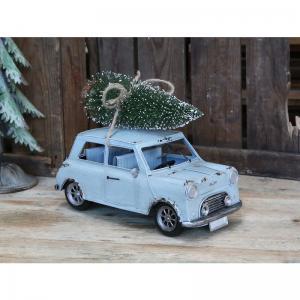 Stor vintage bil med julgran - Chic Antique