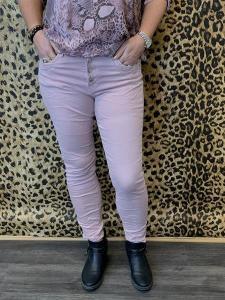 Jeans med knappar, Ljusrosa (Wilma) - Mix by Heart