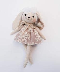 Kanin, lavendelfärgad klänning - Wonderforest