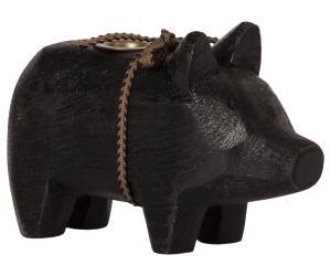 Wooden pig, Small - Black. - Maileg     LEV NOV/DEC