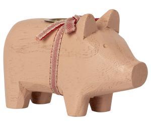 Wooden pig, Small - Powder. - Maileg     LEV NOV/DEC