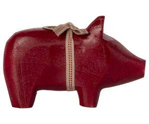 Wooden pig, Small - Red. - Maileg     LEV NOV/DEC