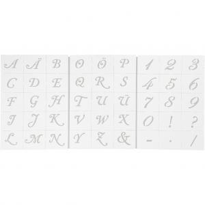 Schabloner, Bokstäver och Siffror