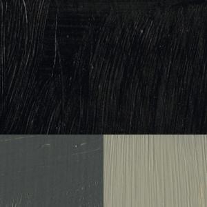 Bensvart/ Konstnärsfärg/ Linolja