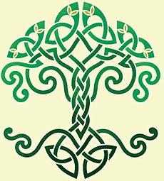 Schablon/ Livets träd