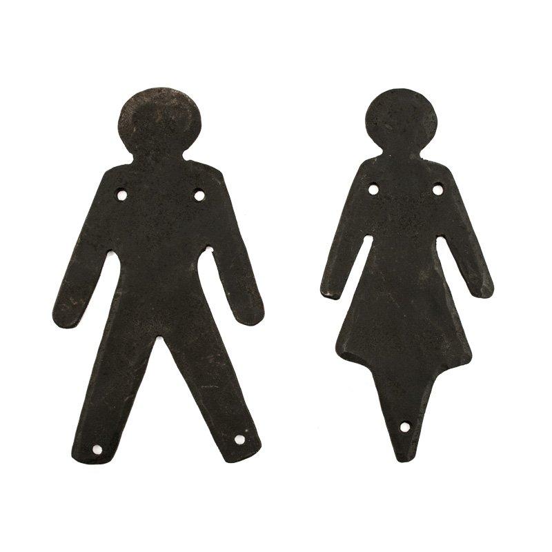 WC-skylt damernas & herrarnas/ Toalettskylt