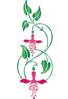 Schablon/ Fuchsia