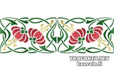 Schablon/ Tapetbård
