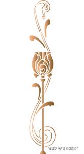 Schablon/ Stiliserad tulpan