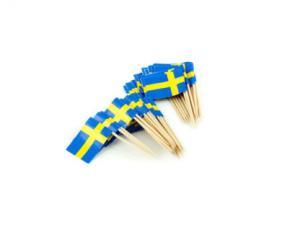 Tandpetare/Svenska flaggan/ Tårtdekoration/ Midsommar