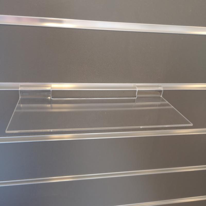 Akrylhylla rak 250x100mm