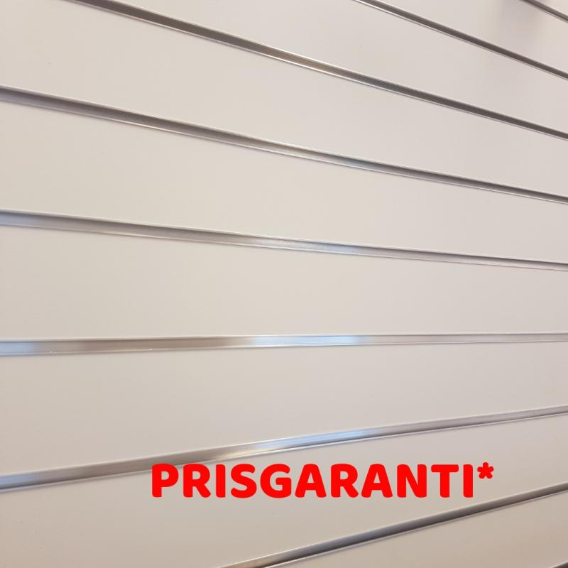Spårpanel  Vit cc100 1200x1200mm