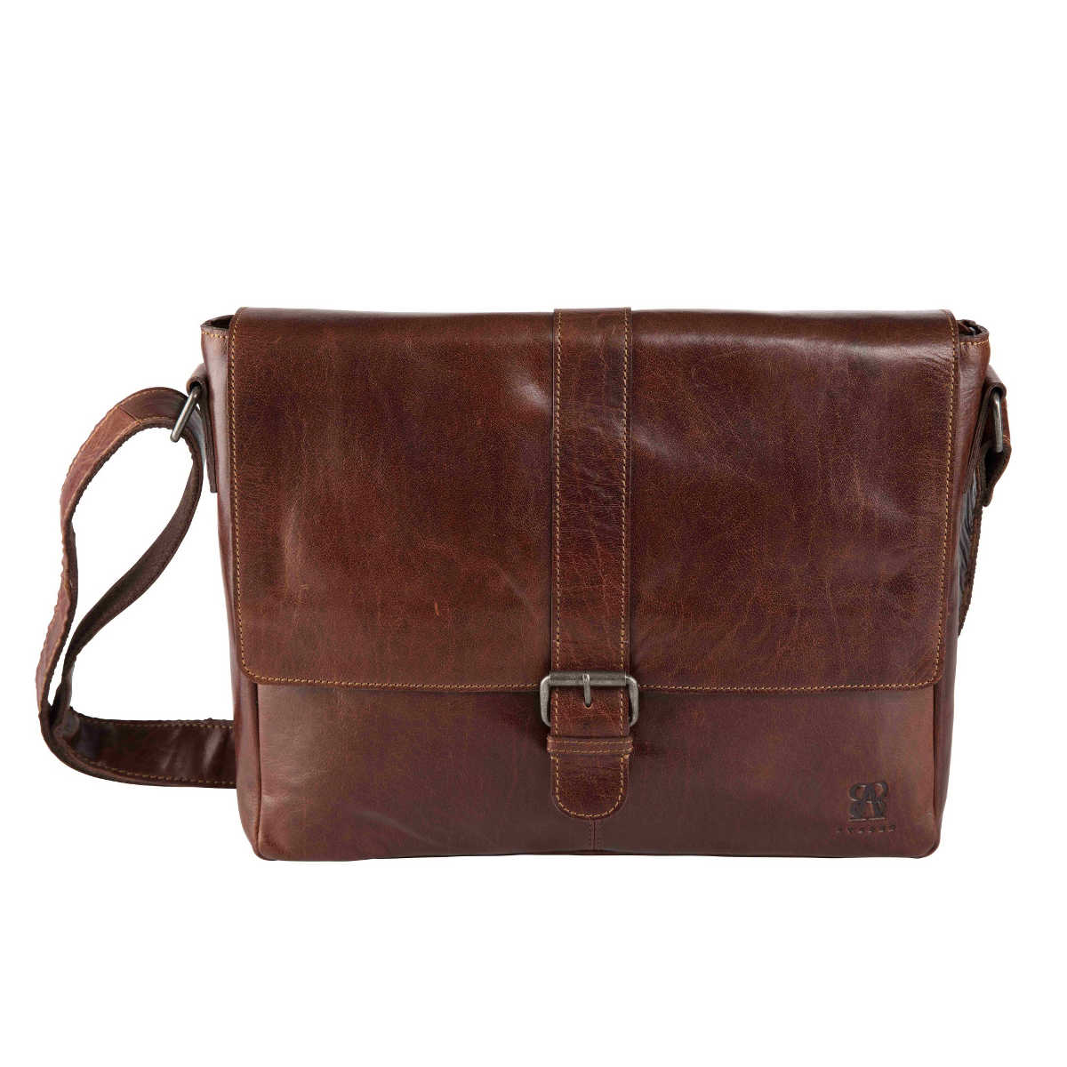 läder messenger väska