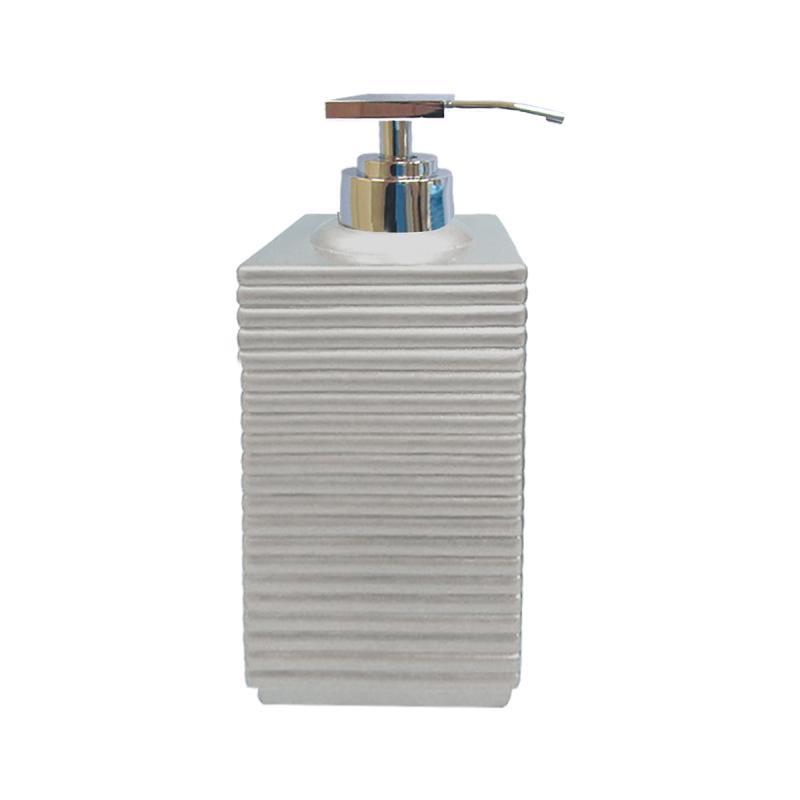 Tips på exklusiv badruminredning online till trendiga badrum. Tvålpump Linio silvergrå