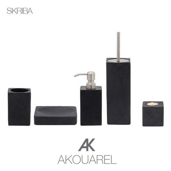 SKRIBA - En serie exklusiva accessoarer för badrum och kök i massiv sten / marmor från vårt AKOUAREL sortiment.