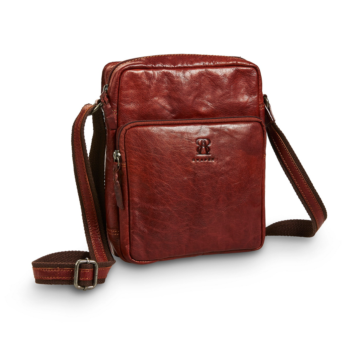 Brown Leather Shoulder bag mini from B away