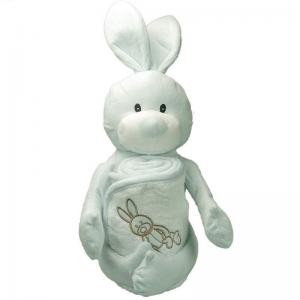 Gosedjur Jo Rabbit och 75x75 cm mjuk frotté handduk av 100% bomull 420gr/m² för barn