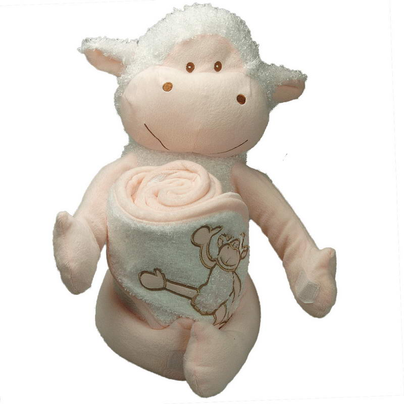Cuddly toy Theo Mouton and 75x75 cm soft terry towel 100% cotton 420gr / m² for children