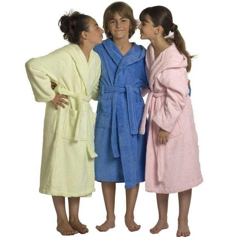 Baby and childrens bathrobe LUXURY blanc