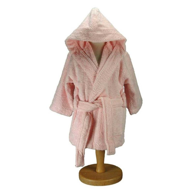Baby and childrens bathrobe LUXURY rose