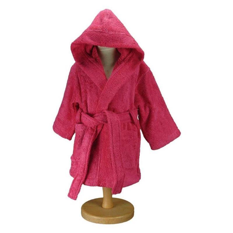 Baby and childrens bathrobe LUXURY rose indien
