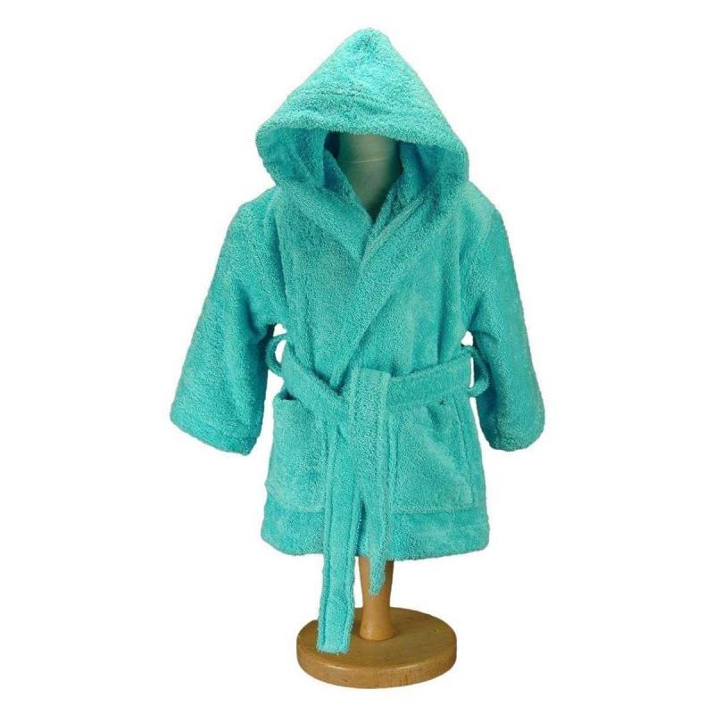 Baby and childrens bathrobe LUXURY turquoise