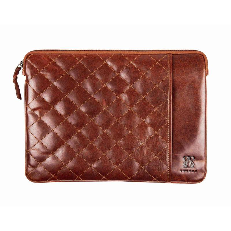 Leather Laptop Sleeve Quilted