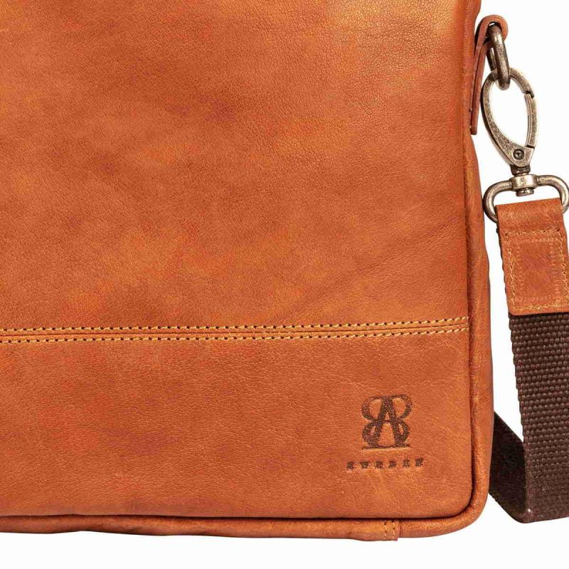 Leather Office Bag Tan
