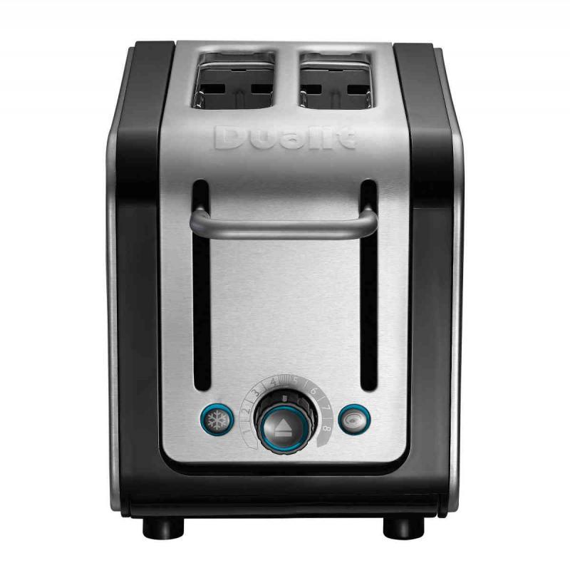 Dualit Architect 2 slice toaster. Black Trim, Polished Body