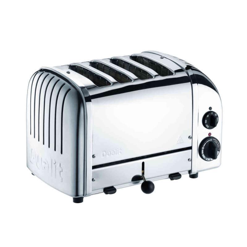 Dualit NewGen Classic 4 slice toaster. Polished Design. Patented ProHeat element