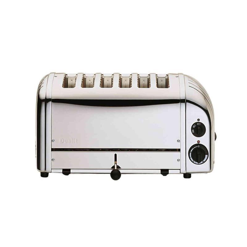 Dualit Classic 6 slice toaster. Polished Design. Patented ProHeat element
