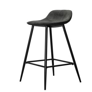 By On Bar Chair Candance Svart Barstol Sammet Liknande Chanilletyg