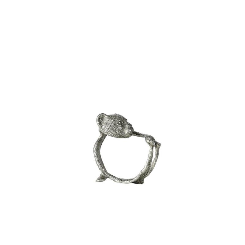 By On Napkin Ring Bear Silver Servettring från ByOn. Tillbehör Dukning
