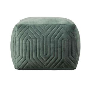 By On Pouf Flare Green Floor Seating Pillow Footstool from ByOn