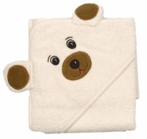 Badhandduk björnformad med huva
